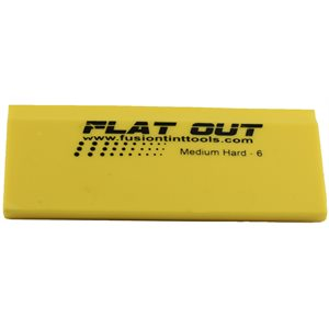"FUSION - 5"" YELLOW FLAT OUT SQUEEGEE BLADE"