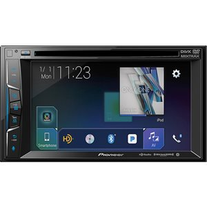 "PIONEER - 6.2"" DOUBLE-DIN, BLUETOOTH, SIRIUSXM"