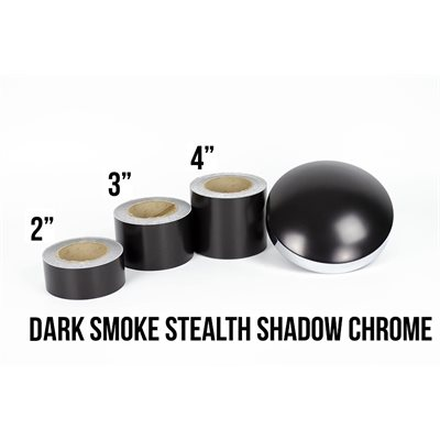 "Luxe LightWrap Dark Smoke Stealth Shadow Chrome Roll - 2"" x 25yd - 12%VLT - Satin"