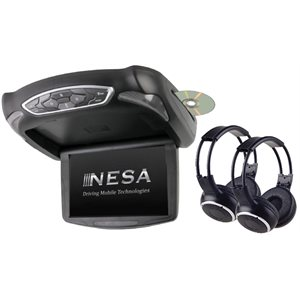 "NESA - 10.1"" MONITOR / DVD COMBO & 2-HEADPHONES"